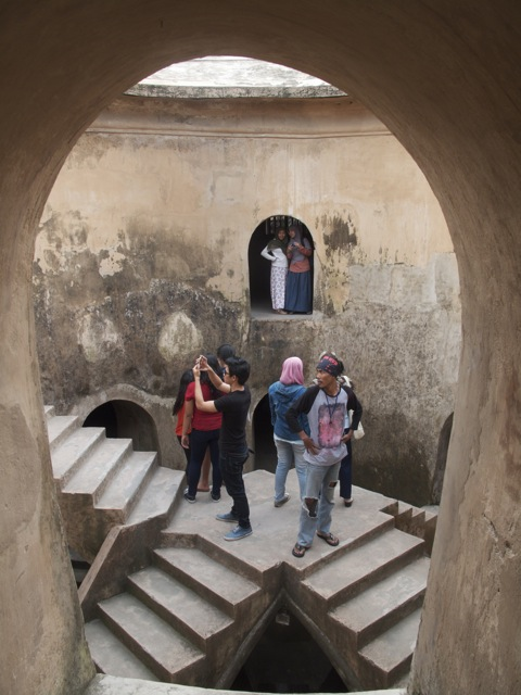 The central stairs of Sumur Gumuling
